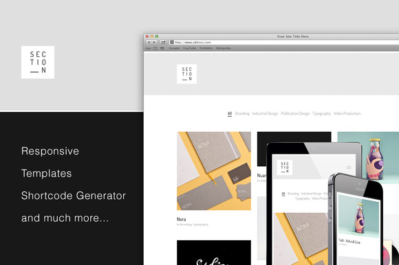 Section Responsive Portfolio Theme