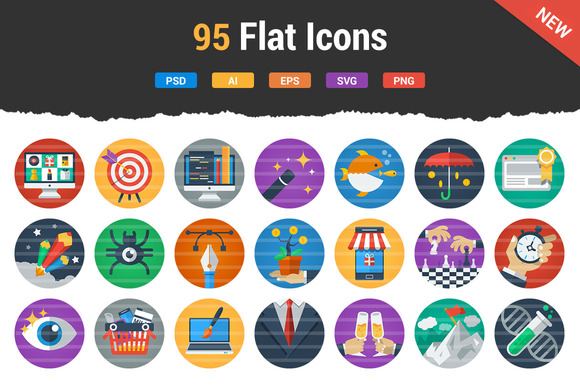 Irresistible Flat Icons