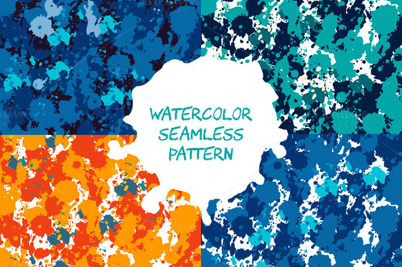 Set Of 4 Seamless Patterns