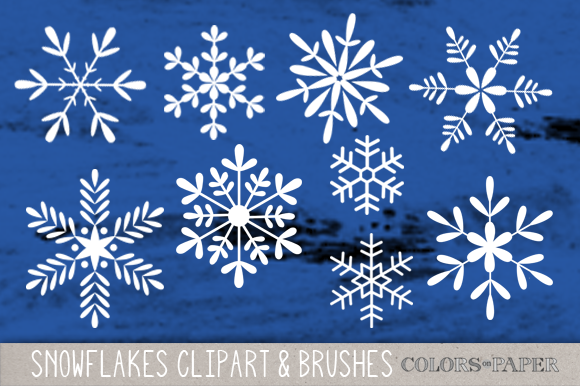 Snowflakes Clipart Brushes Stamps
