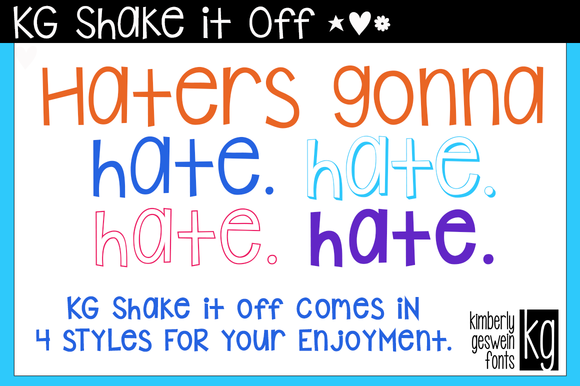 KG Shake It Off Fonts