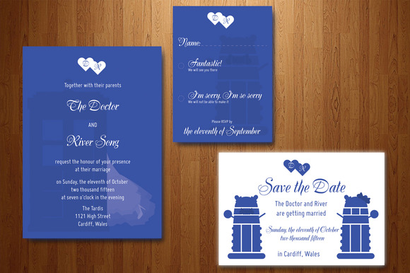 Doctor Who Wedding Invitation