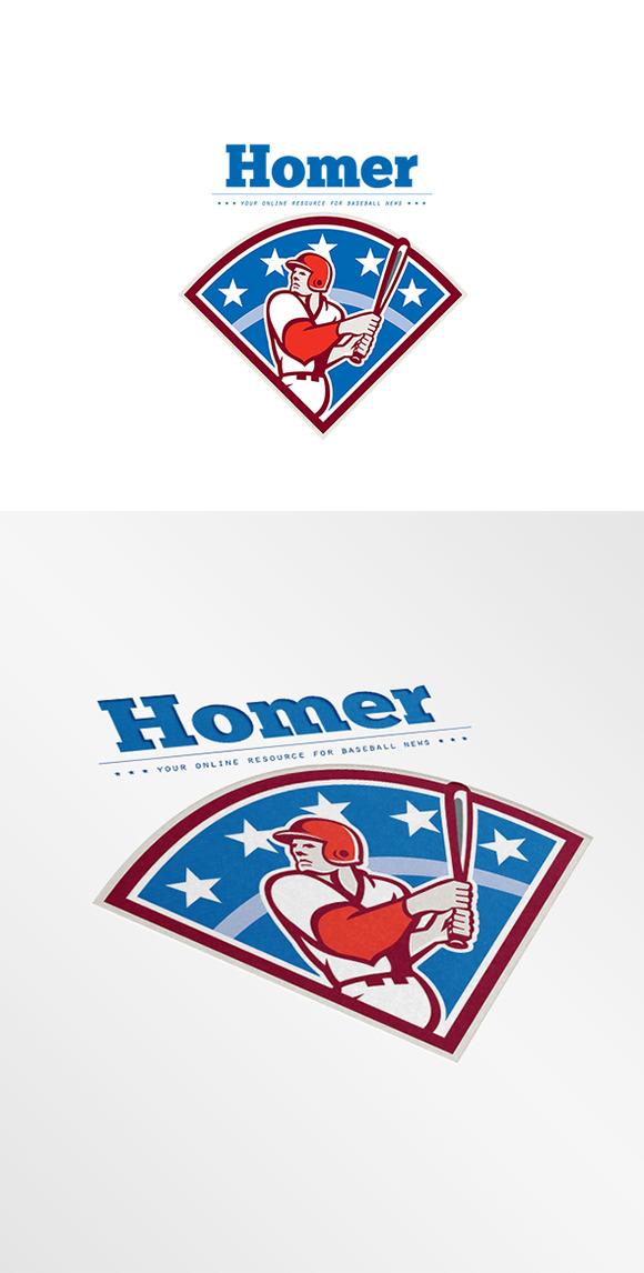 Homer Baseball News Logo
