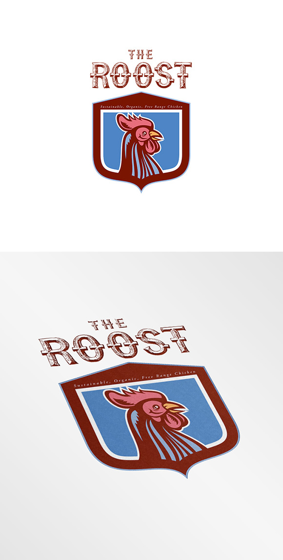 The Roost Sustainable Organic Logo