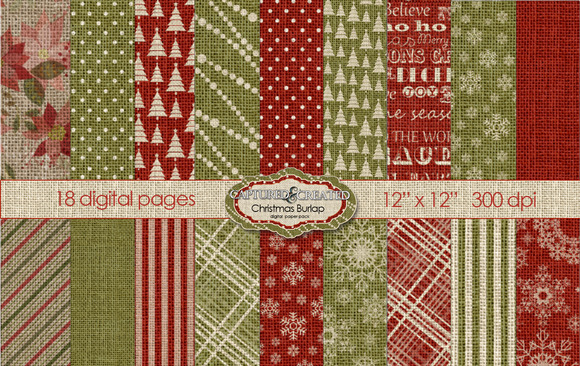 Christmas Burlp Digital Paper Pack18