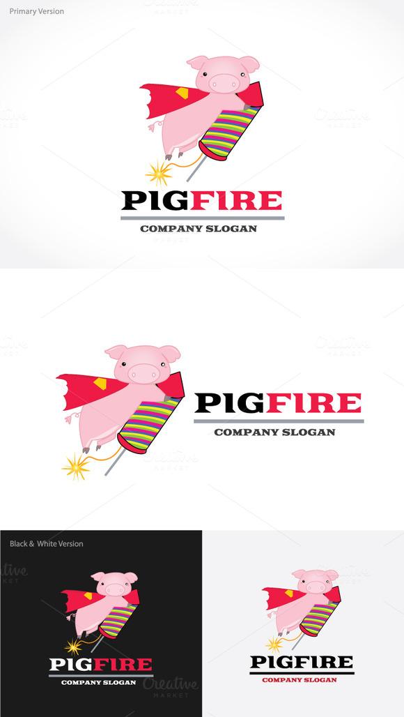 Pig Fire Logo