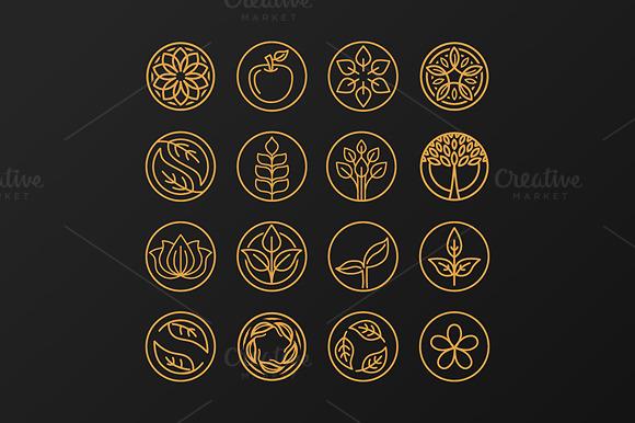 Outline Organic Emblems