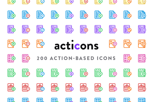 Acticons 200 Action-Based Icons