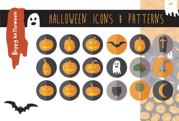 Halloween Icons Patterns