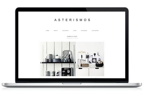 Responsive WP Theme Asterismos