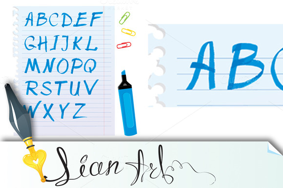 Alphabet Set Marker Letters