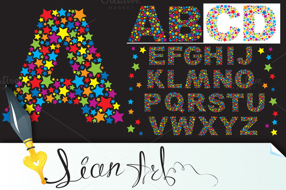 Alphabet Stars Letters