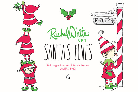 Santa S Elves Vector PNG