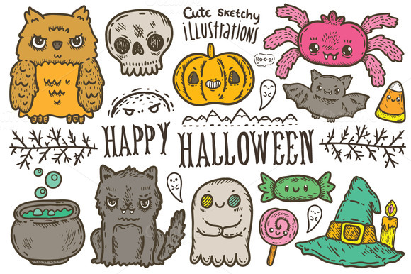 Happy Halloween Characters Patterns