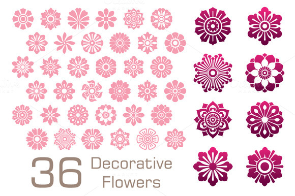 Decorative Flower Set