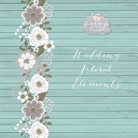 Rustic Teal Wedding Floral