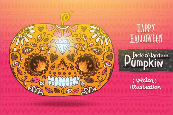Day Of The Dead Halloween Pumpkin