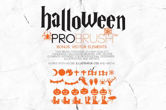 Halloween ProBrush Vectors