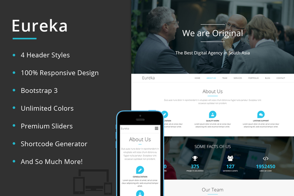 Eureka One Page WordPress Theme