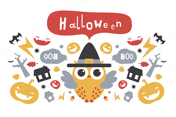 Halloween Design With Owl