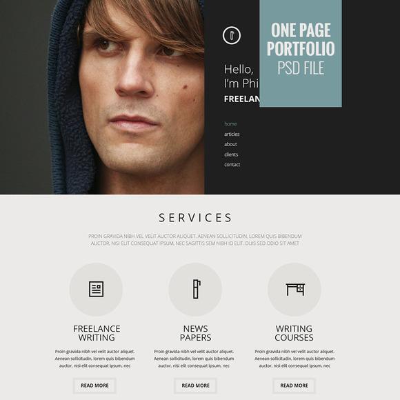 Portfolio One Page Design