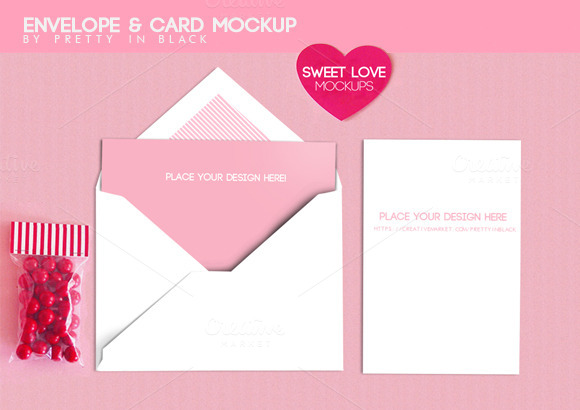 Envelope Card Mockups