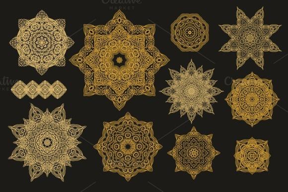 Set Of Decorative Rosettes