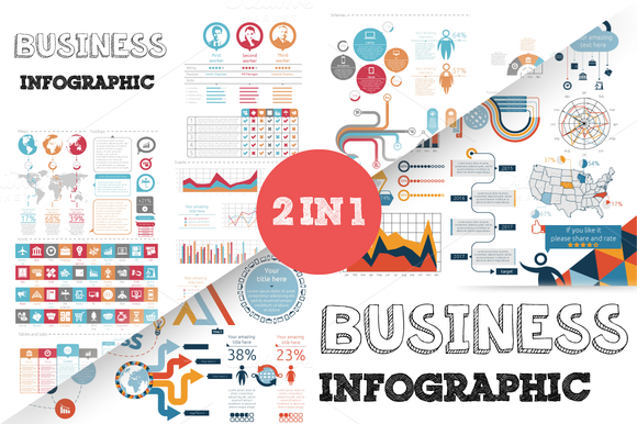 32% OFF Business Infographic Bundle