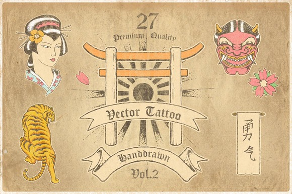 Vector Tattoo Style-Handrawn Vol.2