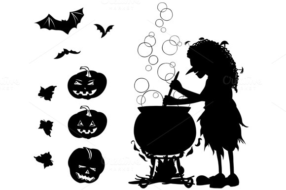 Halloween Silhouette Of Witch
