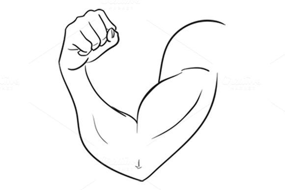 Biceps Of Strong Man