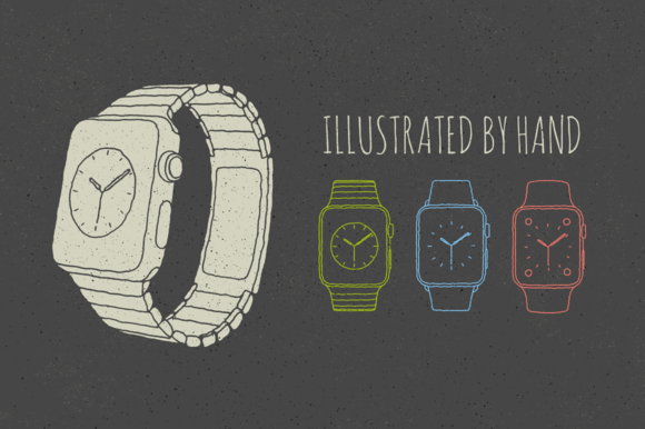 9 Apple Watch Illustrations By Hand