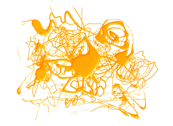 Abstract Splash Yellow Color