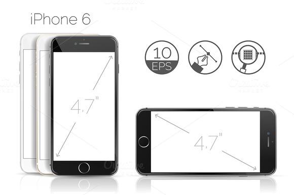Phone 6 Detailed Mockup