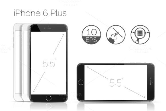 IPhone 6 Plus Detailed Mockup
