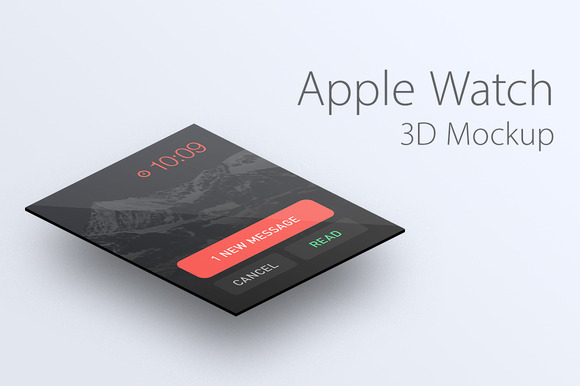 Apple Watch 3D Mockup