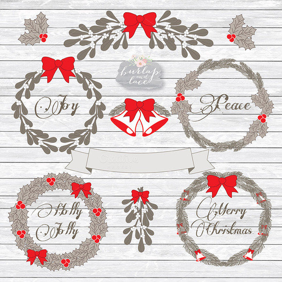 Rustic Christmas Clipart