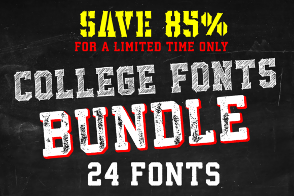 College Fonts Bundle Save 85%