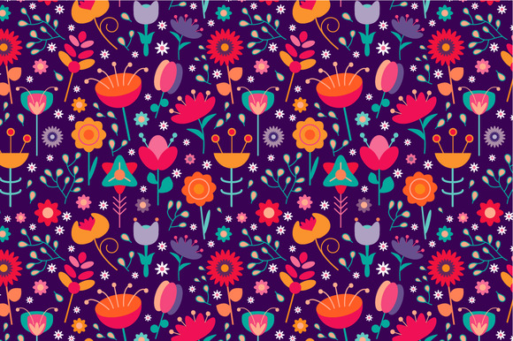 2 Seamless Floral Patterns