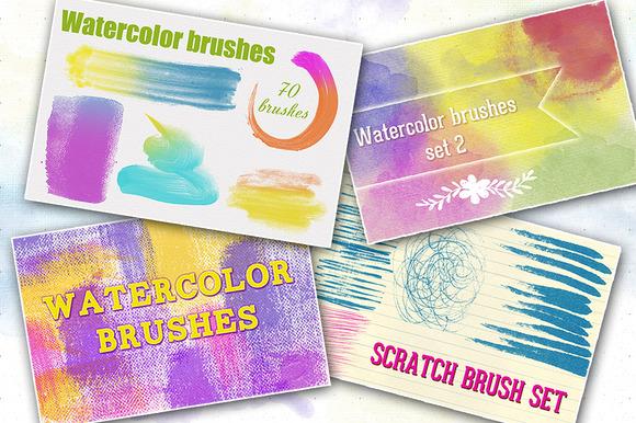 Bundle Watercolor Brushes