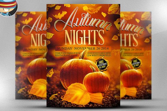 Autumn Nights Flyer Template