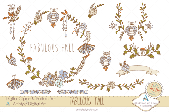 Fabulous Fall Clipart Vector