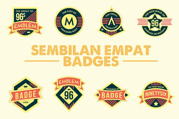 Sembilan Empat Badges