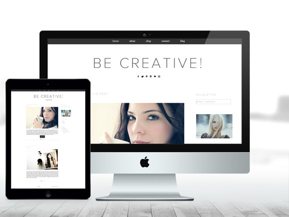 BLOGGER Theme Be Creative