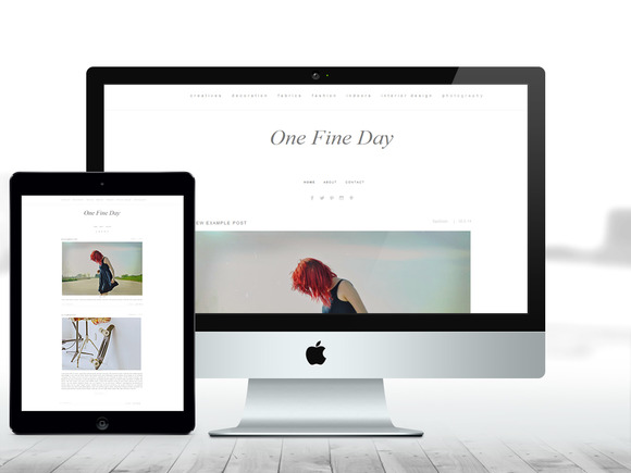 BLOGGER THEME One Fine Day