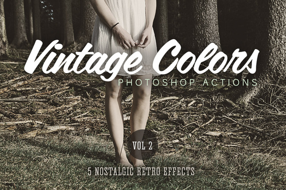 Vintage Colors Actions Volume 2