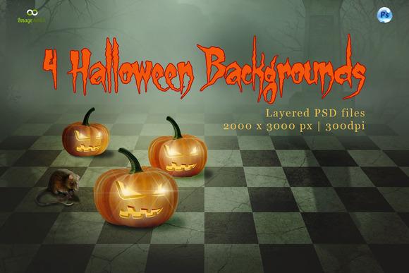 4 Halloween Backgrounds