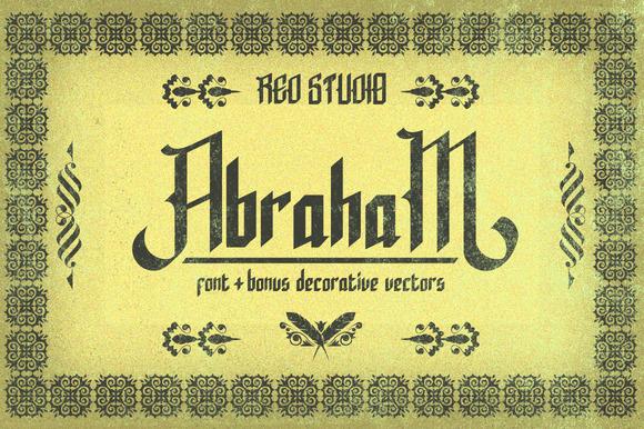 Abraham Typeface Bonus