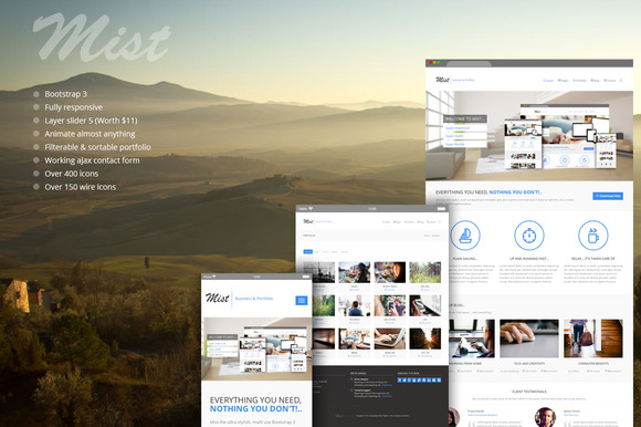 Mist Business Portfolio Theme