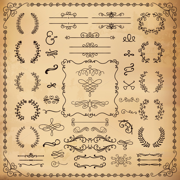 Vintage Hand Drawn Design Elements